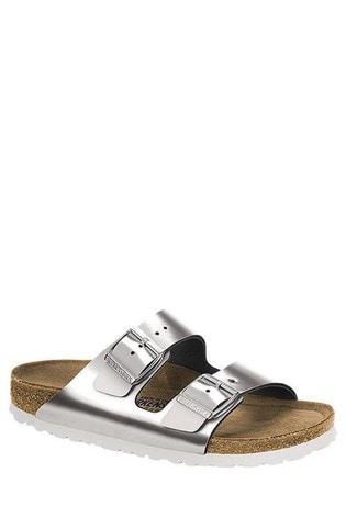 Birkenstock® Silver Metallic Arizona Sandals