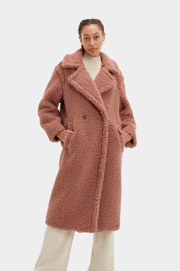 UGG Mink Gertrude Teddy Long Coat
