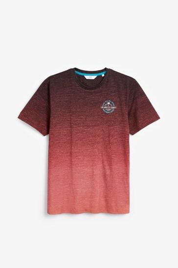 Coral Dip Dye Graphic T-Shirt