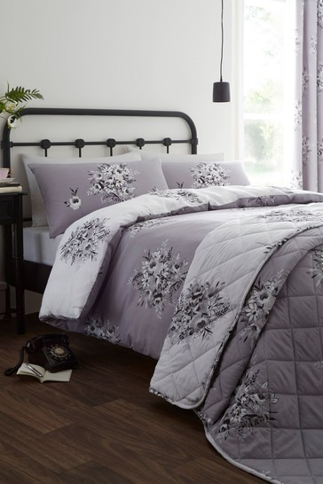 Floral Bouquet Easy Care Duvet Cover and Pillowcase Set by Catherine Lansfield