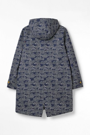 White Stuff Blue Cloud Middlehaum Rain Mac