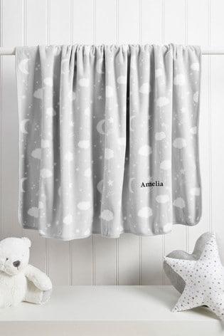 Personalised Grey Star Blanket