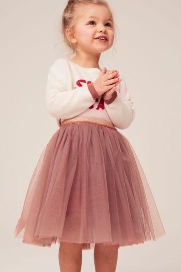 Pink Midi Tutu Skirt (3mths-7yrs)