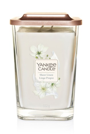 Yankee Candle Elevation Large Sheer Linen Candle