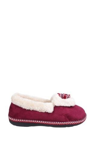 Fleet & Foster Purple Duffy Slippers