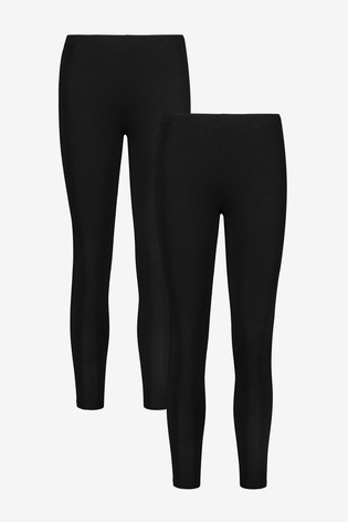 Black 2 Pack Full Length Leggings