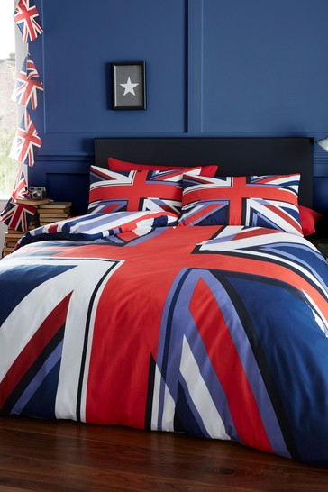 Union Jack Duvet Cover and Pillowcase Set by Catherine Lansfield