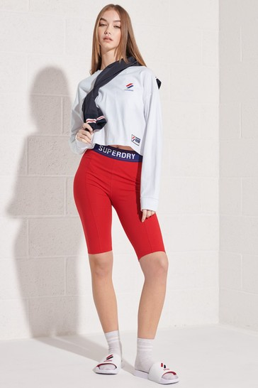 Superdry White Sportstyle Essential Crop Top