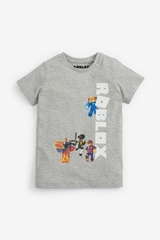 Grey Roblox T-Shirt (3-15yrs)