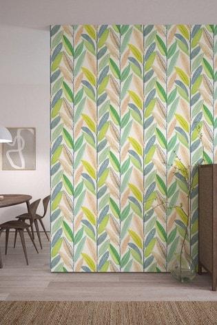 Scion Blue Hikkaduwa Leaves Wallpaper