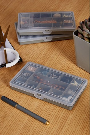 Set of 3 Wham Plastic Organisers With 13 Divisions