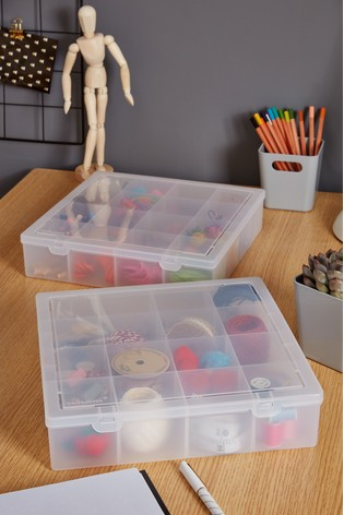 Set of 2 Wham Plastic Organisers With 16 Divisions