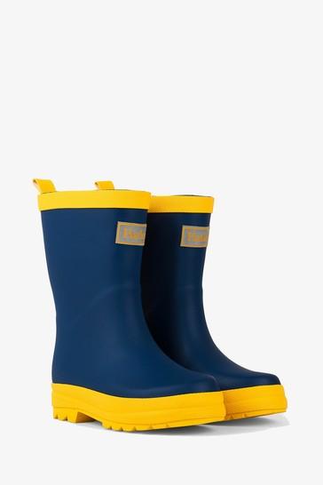 Hatley Blue Matte Rain Boots