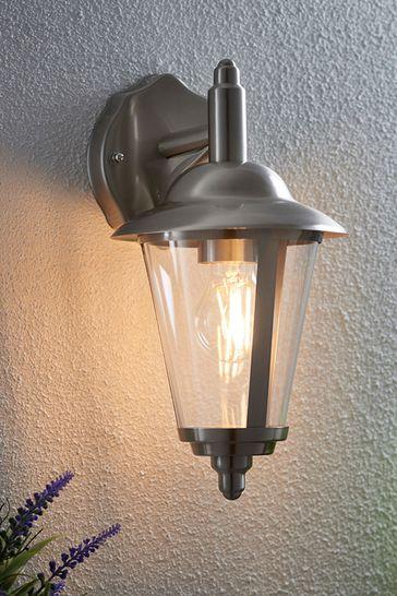Gallery Direct Silver Brockhampton Outdoor Wall Light