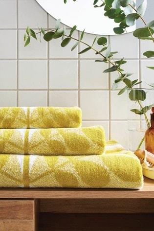 Orla Kiely Yellow Botanica Stem Towel