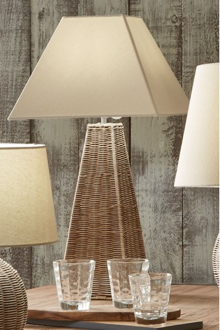 Seacomb Rattan Pyramid Table Lamp by Pacific Lifestyle