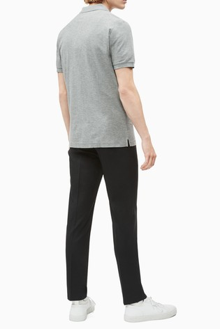Calvin Klein Grey Refined Pique Slim Polo