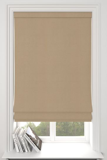 Eloise Latte Natural Made To Measure Roman Blind