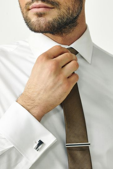 Gunmetal Textured Cufflink Set