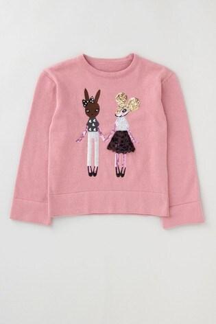 Angel & Rocket Pink Mouse Sequin Jumper