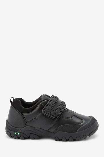 Black Dinosaur Single Strap Light-Up Shoes