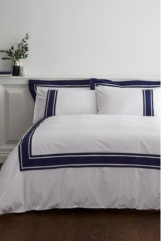 Berkeley Tailored Border Cotton Duvet Cover and Pillowcase Set by Bianca