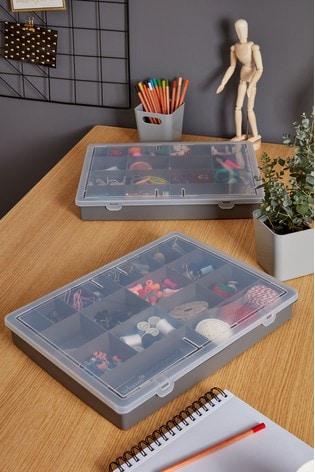 Set of 2 Wham 18 Division Plastic Organisers