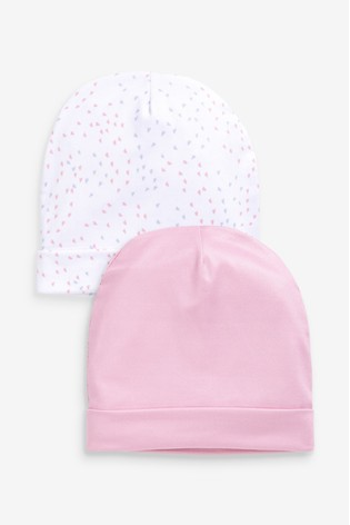 aden + anais Pink Mini Hearts Hats Two Pack Set