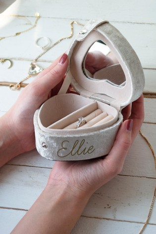 Personalised Travel Heart Shaped Jewellery Box by Solesmith