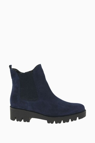 Gabor Newport Marine Suede Fashion Ankle Boots