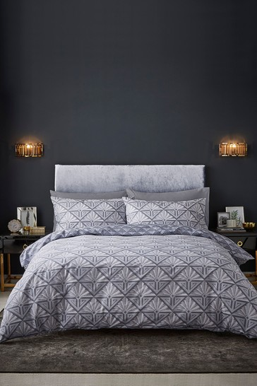 Art Deco Easy Care Duvet Cover and Pillowcase Set by Catherine Lansfield