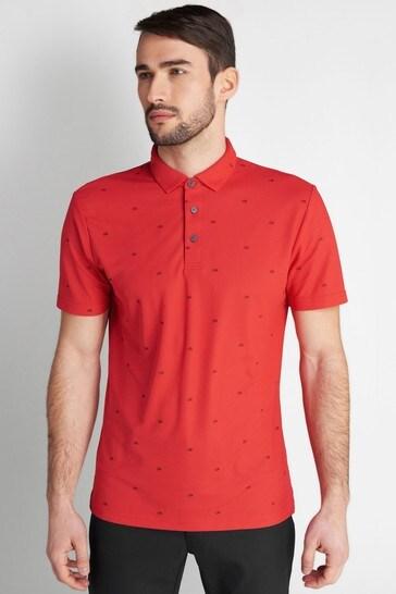 Calvin Klein Golf Red Monogram Polo