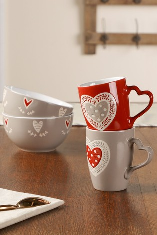 Dibor 2 Person Country Heart Breakfast Set