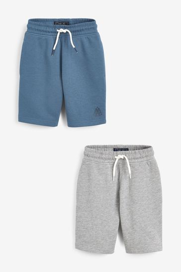Blue/Grey 2 Pack Shorts (3-16yrs)