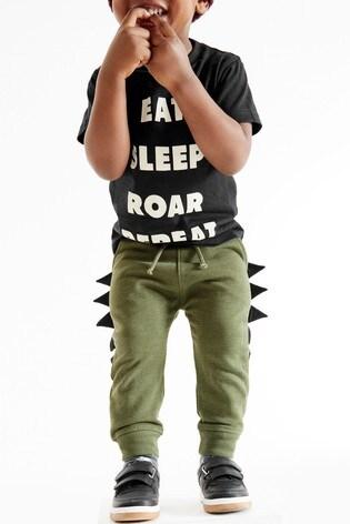 Khaki Dino Spike Joggers (3mths-7yrs)