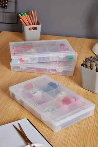Set of 3 Wham 13 Divisions Plastic Organiser