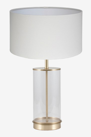 Pacific Champagne Westwood Clear Glass Metal Table Lamp