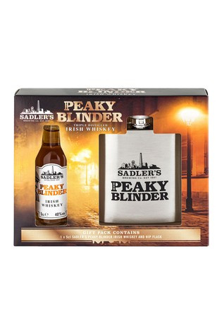 5cl Irish Whiskey And Hipflask Gift Set by Peaky Blinders