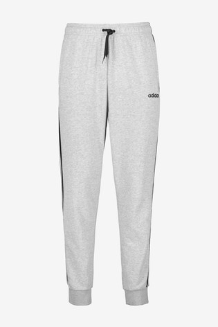 adidas Grey Essentials 3 Stripe Joggers