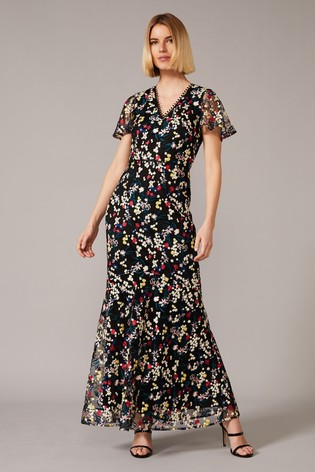 Phase Eight Multi Daiva Embroidered Fishtail Dress