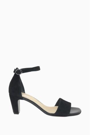 Gabor Black Unicorn Suede Sandals