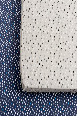 2 Pack Dash Print Fitted Sheets