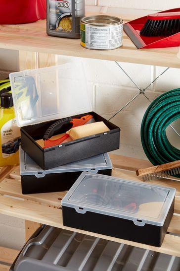 Set of 3 Wham Plastic Organiser Box