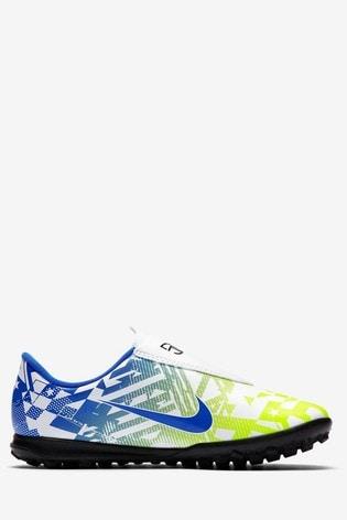 Nike White Mercurial Vapor 13 Club Neymar Jr. Turf Junior And Youth Football Boots