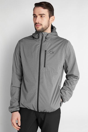 Calvin Klein Golf Grey Ultron Hooded Jacket