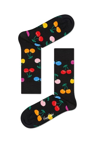 Happy Socks Black Cherry Print Socks