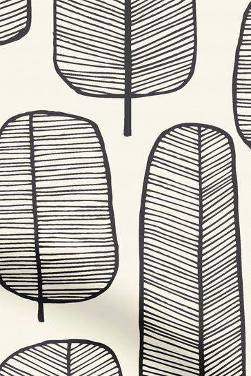 MissPrint Black Little Trees Made To Measure Roller Blind