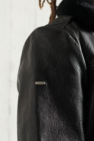 Superdry Aviator Flight Leather Jacket