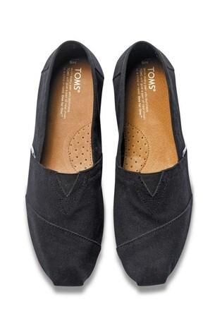 TOMS Black Canvas Classic Espadrille Shoes