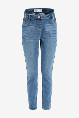Denim Mid Blue Maternity Super Soft Skinny Jeans